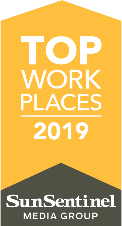 Sun Sentinel 2019 Top Work Places Badge